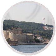 Fortress Canakkale And War Memoriel - Dardanelles Round Beach Towel