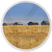Four In A Row  Round Beach Towel