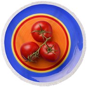 Four Tomatoes  Round Beach Towel