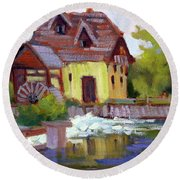 Fourge Mill Giverny Round Beach Towel
