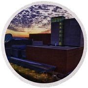 Fox Cities Performing Arts Center Round Beach Towel