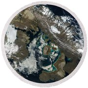 Foxe Basin, Northern Canada Round Beach Towel by Stocktrek Images