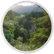 Foyers Valley Round Beach Towel