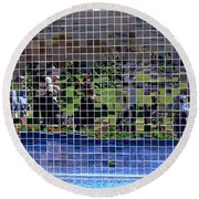 Fractured Image Round Beach Towel