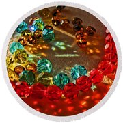 Fractured Light I Round Beach Towel