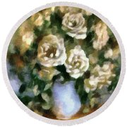 Fragrant Roses Round Beach Towel