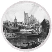 France: Bourges Round Beach Towel