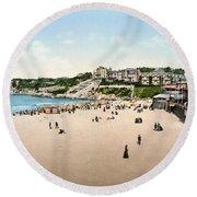 France: Casino, C1895 Round Beach Towel