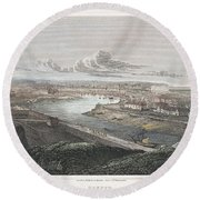 France: Dieppe, 1822 Round Beach Towel