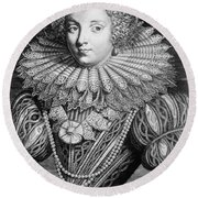 France: Noblewoman Round Beach Towel