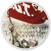 France: Popular Front, 1936 Round Beach Towel