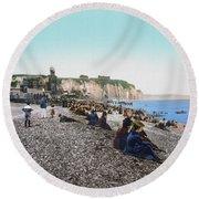 France: Resort, C1895 Round Beach Towel