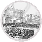 France: Revolution Of 1848 Round Beach Towel