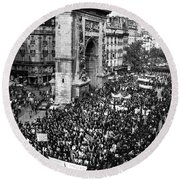 France: Strike, 1968 Round Beach Towel