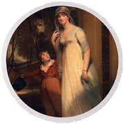 Frances Borlase Later Frances Grenfell And Pascoe George Norman Grenfel Round Beach Towel by Sir Martin Archer Shee