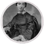 Frances Sargent Osgood (1811-1850). American Poet. Engraving From A Painting By Alonzo Chappel, C1873 Round Beach Towel