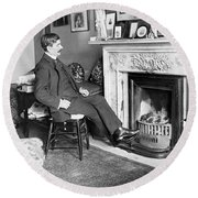 Frank Harris (1854-1931). American Writer Born In Galway, Ireland Round Beach Towel