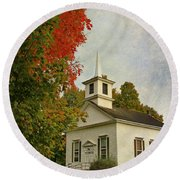 Franklin Church Round Beach Towel