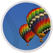 Fraternal Twin Balloons Round Beach Towel