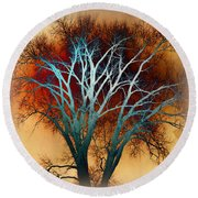 Freaky Tree 1 Round Beach Towel