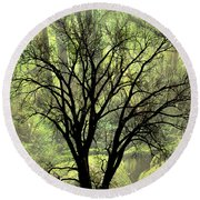 Freaky Tree 2 Round Beach Towel