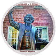 Frederick Douglass Round Beach Towel by Brian Wallace