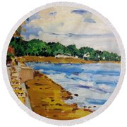 Frederiksted By The Pier Round Beach Towel