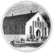 Freedmen School, 1867 Round Beach Towel
