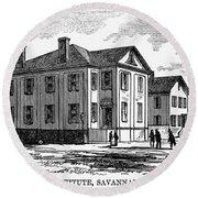 Freedmen School, 1868 Round Beach Towel