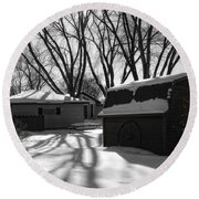 Freedom From Winter Round Beach Towel