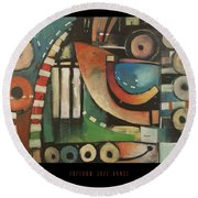 Freedom Jazz Dance Poster Round Beach Towel
