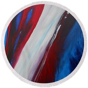 Freedom Of Abstraction Round Beach Towel