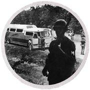 Freedom Riders, 1961 Round Beach Towel
