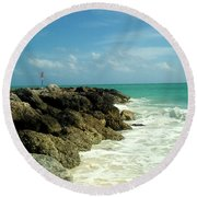 Freeport Coast Round Beach Towel