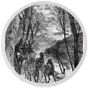 French Broad River, C1873 Round Beach Towel