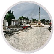 French Cemetery  Round Beach Towel