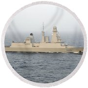 French Destroyer Fs Forbin Round Beach Towel