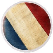 French Flag Round Beach Towel