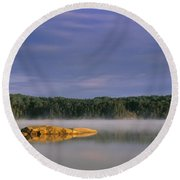 French Lake, Quetico Provincial Park Round Beach Towel