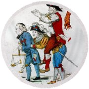 French Revolution, 1792 Round Beach Towel
