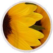 French Sunflowers Round Beach Towel