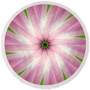 Fresh Pink Round Beach Towel