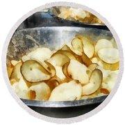 Fresh Potato Chips Round Beach Towel