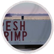 Fresh Shrimp Round Beach Towel