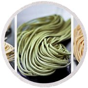 Fresh Tagliolini Pasta Round Beach Towel