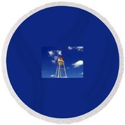 Frisco Texas Water Tower Round Beach Towel
