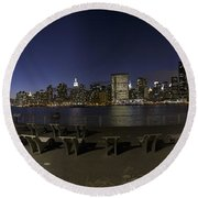 From Gantry At Night Round Beach Towel