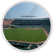 From Left Field Round Beach Towel