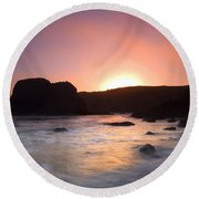 From Light To Light Round Beach Towel