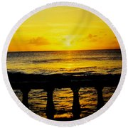 From The Terrace Round Beach Towel